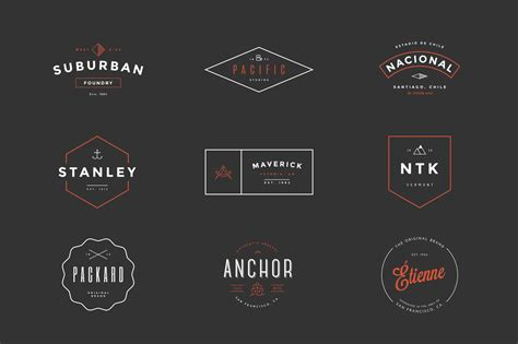 hipster vintage logo pack logo templates on creative market
