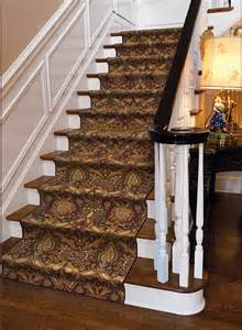 Stair Roll Runners by Modern Damask Md 01 Cocoa Carpet Stair Runner