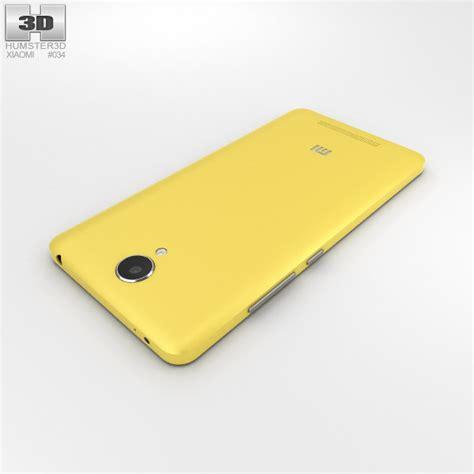 3d Xiaomi Redmi Note 2 xiaomi redmi note 2 yellow 3d model hum3d