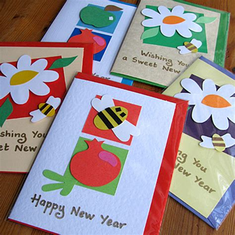 Handmade New Year Greeting Cards - easy handmade new year cards for simple cards kaise