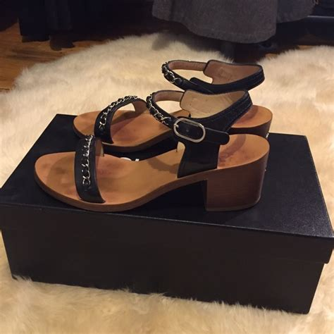 Sandal Chanel Import 22 35 chanel shoes chanel sandals from s closet on poshmark