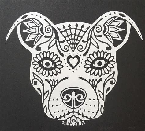 pit bull sugar skull