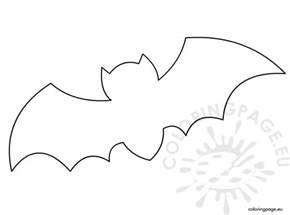 printable bat template coloring page