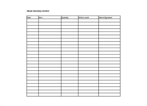 Inventory Spreadsheet Template 5 Free Word Excel Documents Download Free Premium Templates Printable Inventory Template
