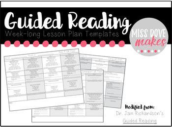 week long lesson plan template week guided reading lesson plan templates jan