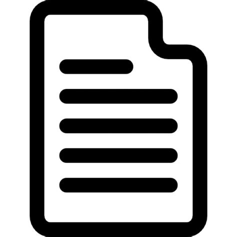 Document with content Icons   Free Download