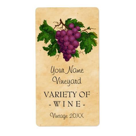 Wine Template Vintage Grapes Personalized Bottle Label Zazzle Com Custom Wine Bottle Label Template