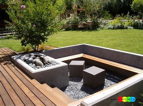 diy pit sitting area outdoor gardening create outdoor lounge with sunken