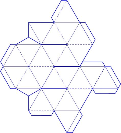 Paper Folding 3d Shapes - 3d tetrahedron template well i figured it out