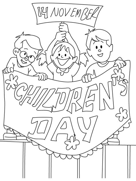 Coloring Pages Of Children S Day Childrens Day Coloring Page Download Free Childrens Day