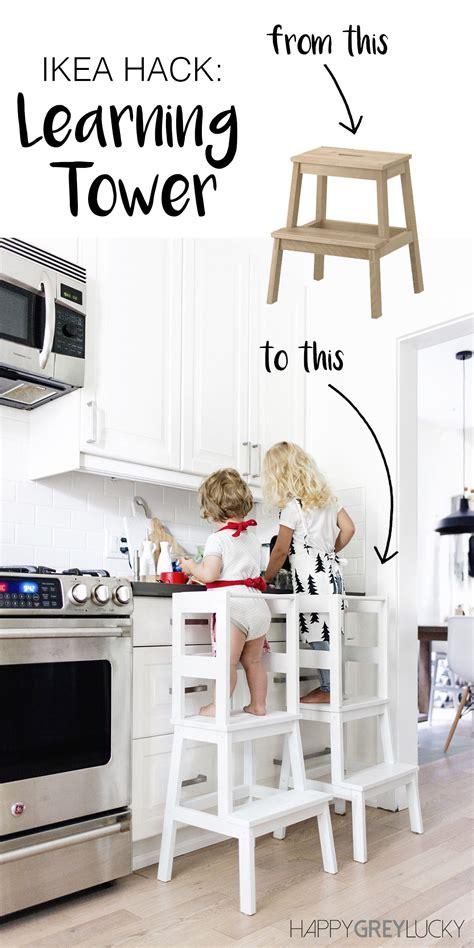 ikea hack kitchen helper ikea hack diy learning tower using the inexpensive
