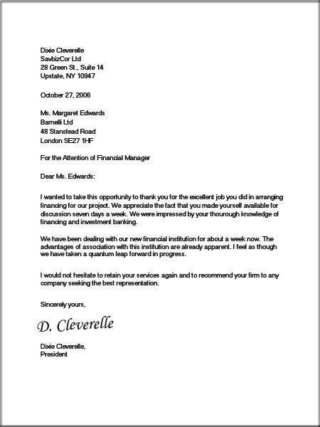 Block Professional Business Letter Format business letter format