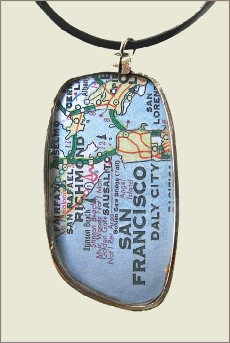san francisco map necklace 17 best images about maps maps maps on map