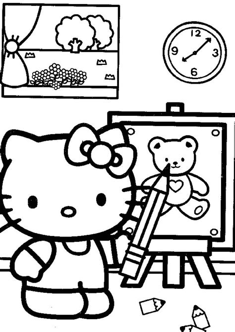 cute coloring pages hello kitty cute hello kitty coloring pages coloring home