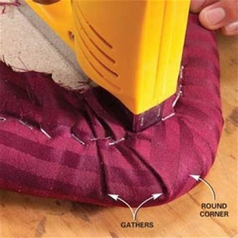 how to do upholstery corners how to reupholster a chair seat