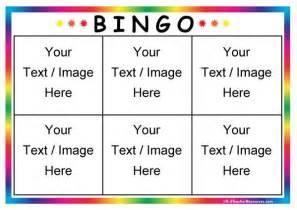 bingo cards templates editable bingo card templates