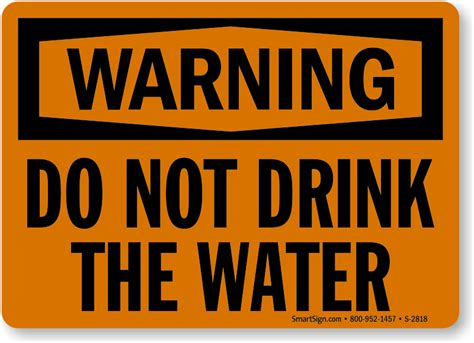 not water do not drink water signs non potable water signs