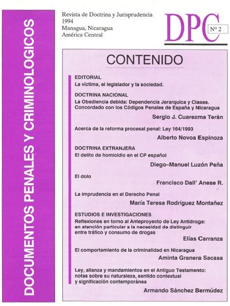 Dpc 0 Resumen by Documentos Penales Y Criminol 243 Gicos Dpc N 176 2 Inejinej