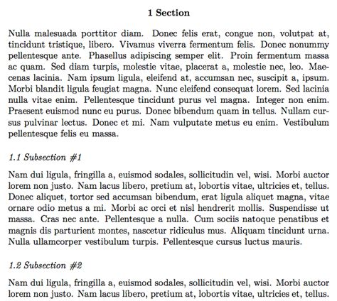 sectioning new to latex want to write recommendation