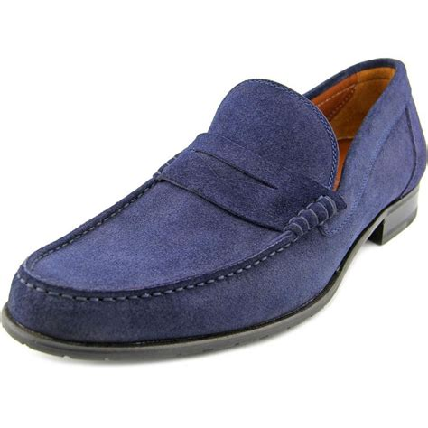 blue suede loafers for a testoni m60318dum suede blue loafer loafers