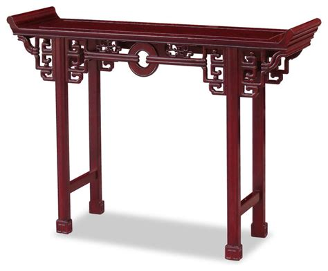 Uttermost Genesis Console Table Rosewood Antique Coin Design Table Asian Console