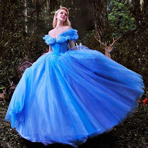 aliexpress buy wowbridal new deluxe blue cinderella wedding dress costume bridal