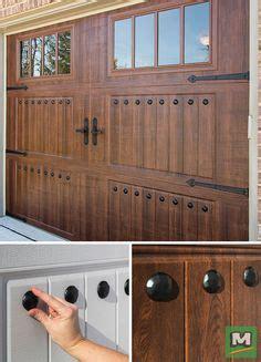 magnetic garage door decorative hardware kit hinges black