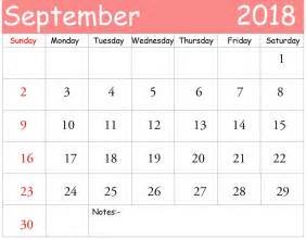 Calendar 2018 Template Design September 2018 Calendar Template Calendar 2017 Printable