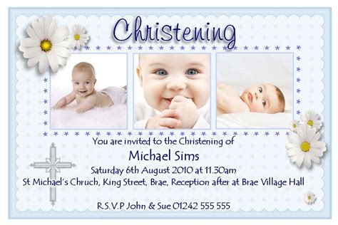Christening Invitation Cards Christening Invitation Baptism Card Template