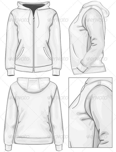 hoodie design drawings women s hooded sweatshirt with zipper graphicriver