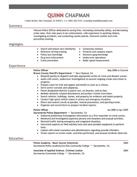 A Resume For A by Enforcement Resume Template Health Symptoms And Cure