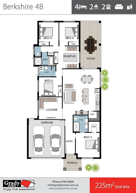 floor plan brochure berkshire 4 large 4 bedroom house floor plan townsville