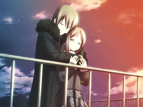 wallpaper anime romantis gambar anime pasangan kekasih romantis