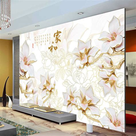 unique wall murals aliexpress buy anaglyph orchids photo wallpaper custom 3d wall murals