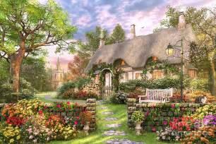Garden Summer Houses Ireland - church lane cottage digital art by dominic davison