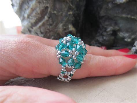 beaded rings tutorial beaded rings tutorial blossom ring ioma