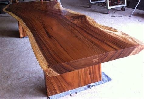 dining or conference table reclaimed solid slab acacia