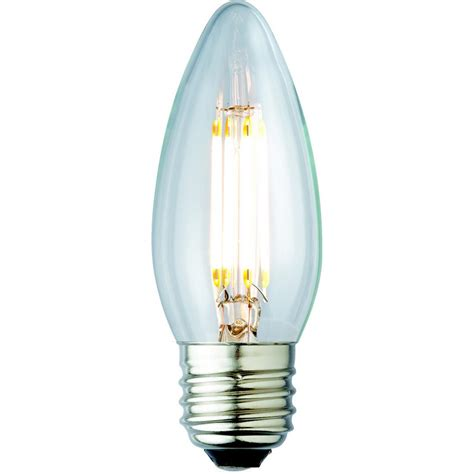 Led Clear Light Bulbs Archipelago 40w Equivalent Soft White B10 Clear Lens Nostalgic Candelabra Blunt Tip Dimmable Led
