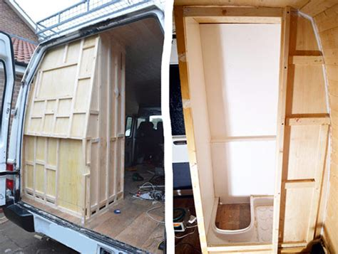 cer vans with bathrooms building the shower enclosure vandog traveller