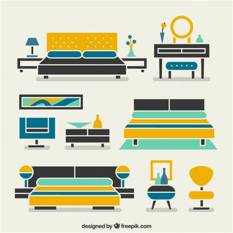 Free Bedroom Furniture modern bedroom furniture vector free download