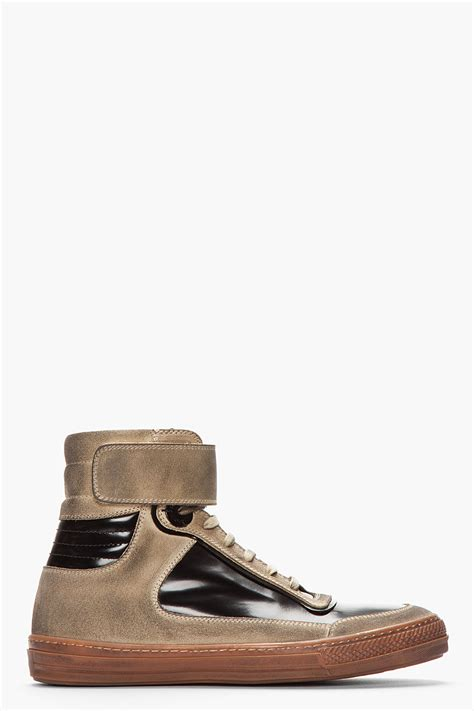 black and gold mens sneakers diesel black gold beige distressed suede and patent