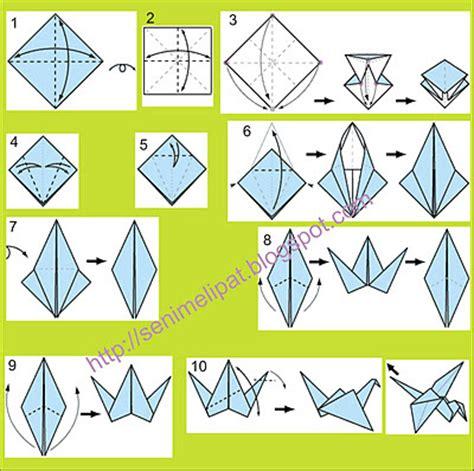 cara untuk membuat origami burung seni melipat belajar origami kerajinan kertas