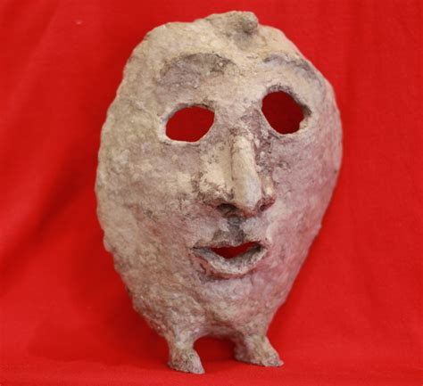 file paper mache mask with front view with