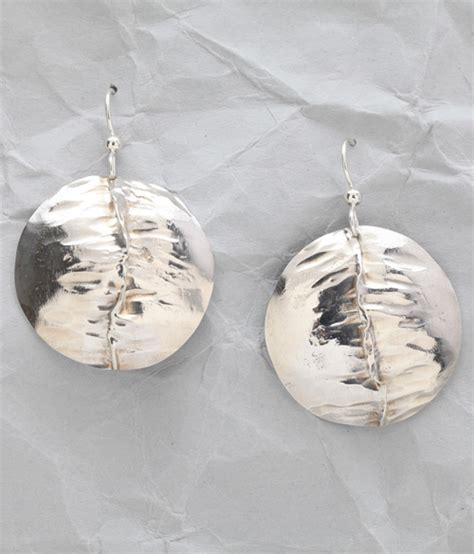 Handcrafted Sterling Silver Earrings - handcrafted sterling silver folded earrings finely found