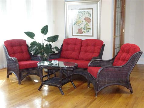 Jam 4 Pc Living Room Set Rattan Usa Wicker Living Room Sets