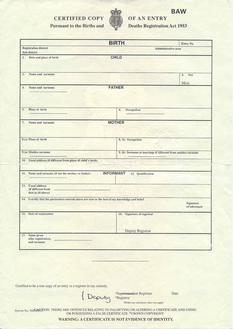 birth certificate template uk birth certificate template uk certified translation of a