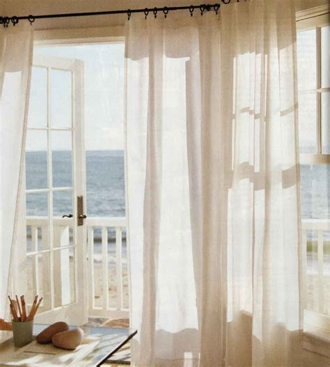 beach cottage curtains curtains with sheers behind decosee com
