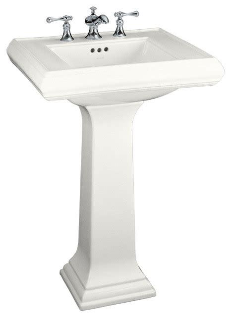kohler memoirs white clay complete pedestal sink