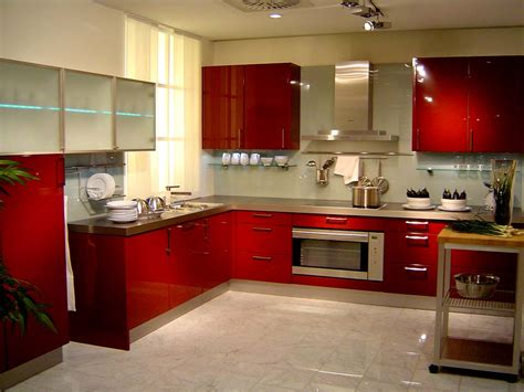 interior design kitchen colors red paint wall kitchen interior design style
