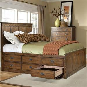 King Captains Bed With Drawers by Captains Bed With Storage Woodworking Projects Plans